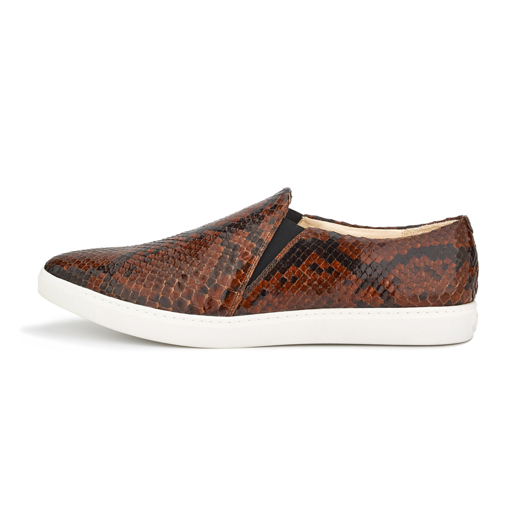 spitz slip on brown phyton side