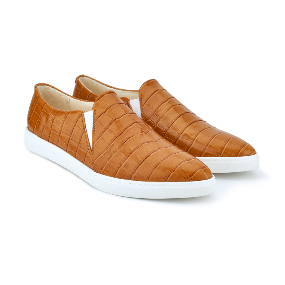 spitz slip on rusty croco front