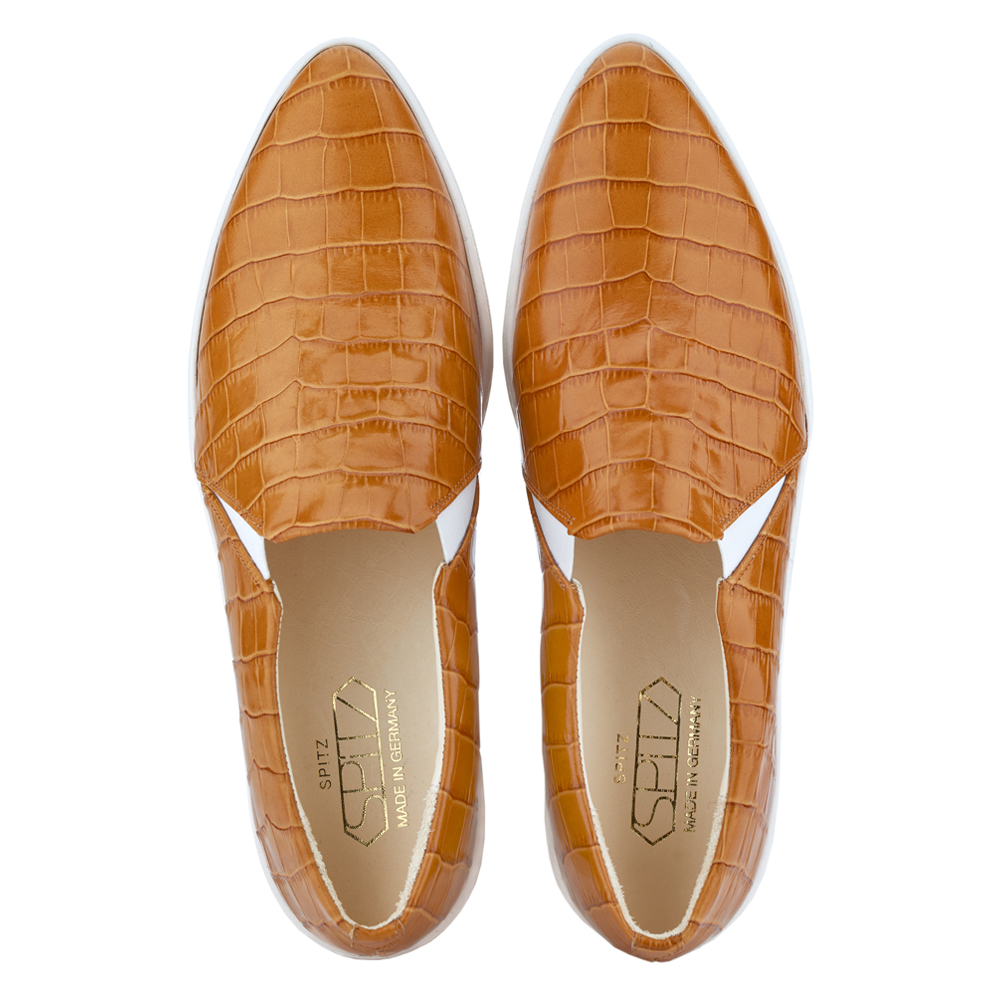 spitz slip on rusty croco top